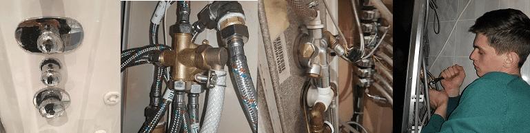 ремонт смесителя в душевой кабине Москва